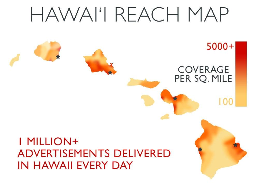 Hawaii reach map